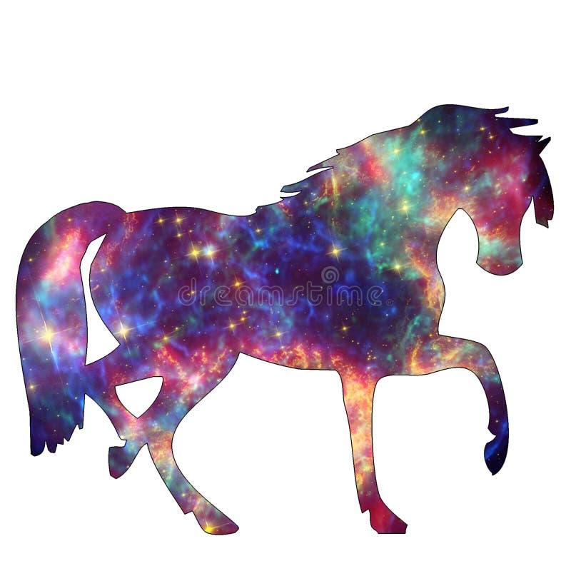 空间动物星系马 免版税库存图片