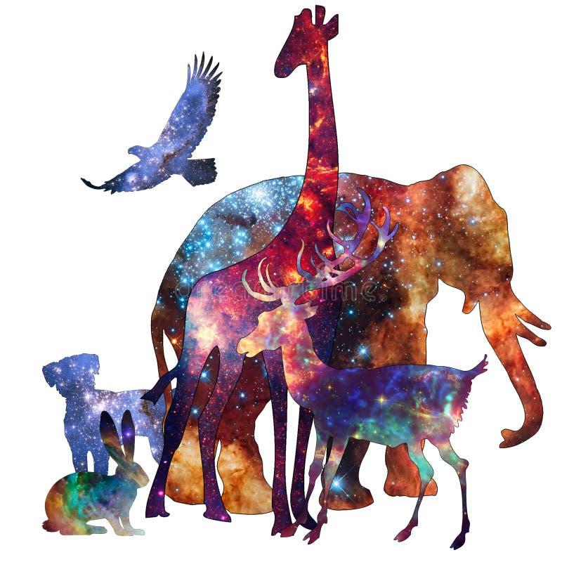 空间动物-神秘的生物 皇族释放例证