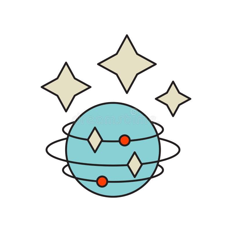 空间在白色背景隔绝的象传染媒介,空间标志,技术标志 向量例证