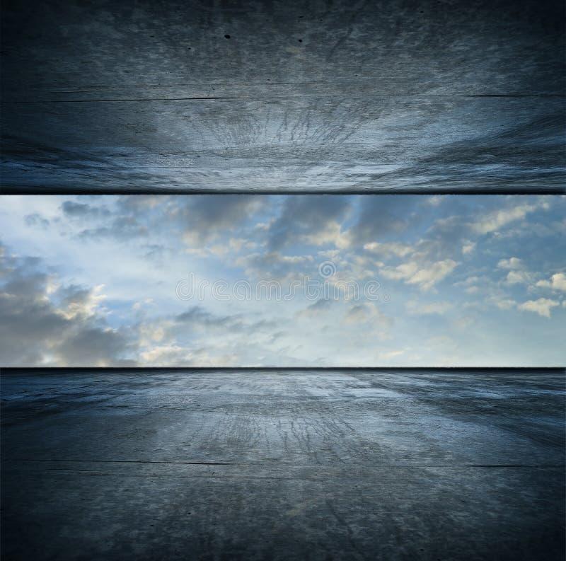 空间天空正方形版本 免版税库存图片
