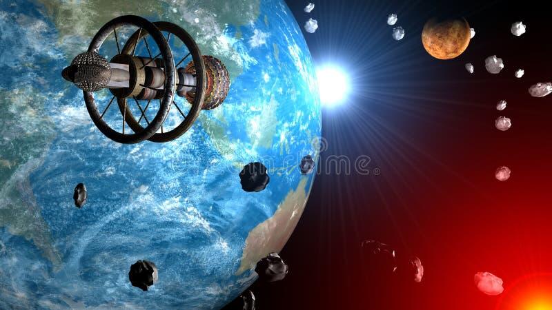 空间太空飞船 向量例证