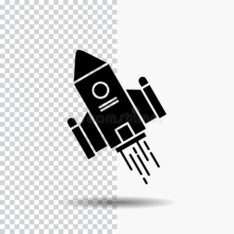 空间工艺,梭,空间,火箭,发射在透明背景的纵的沟纹象 ?? 库存例证