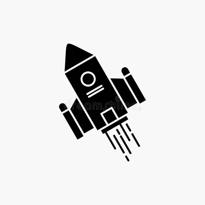 空间工艺,梭,空间,火箭,发射纵的沟纹象 r 向量例证