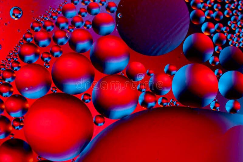 空间或行星宇宙宇宙抽象psycheledic背景 抽象分子原子sctructure 水泡影 宏指令被射击  免版税库存照片