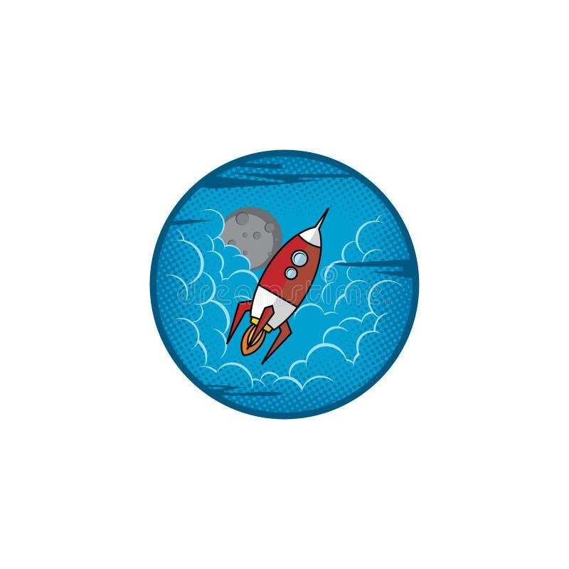 空间月亮远征旅行家火箭 皇族释放例证