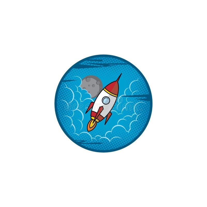 空间月亮远征旅行家火箭 库存例证