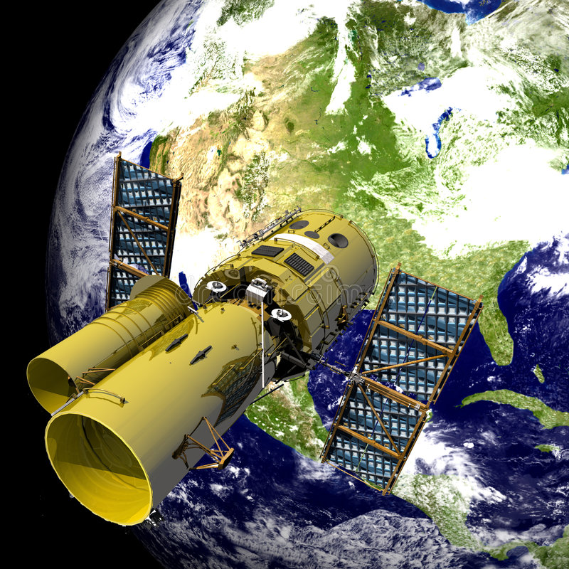 空间望远镜 向量例证
