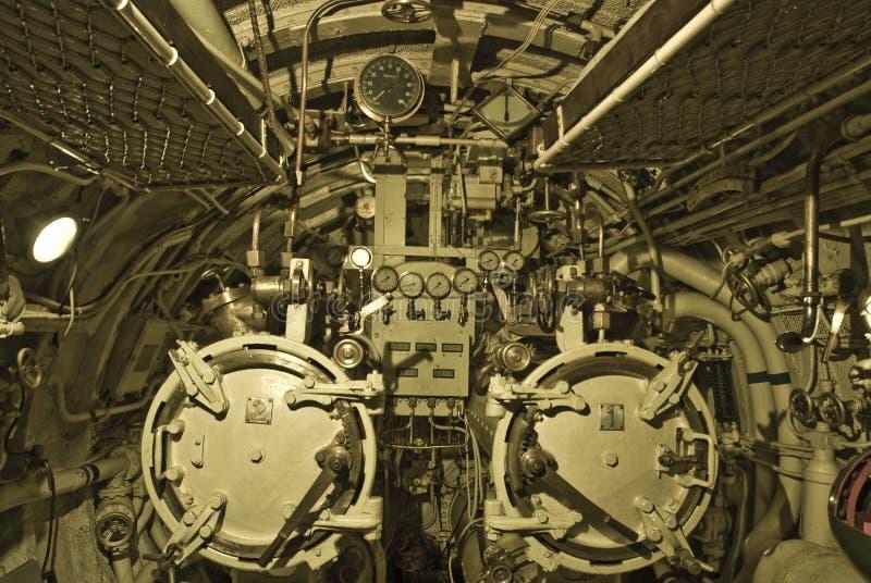 空间水下鱼雷 库存照片