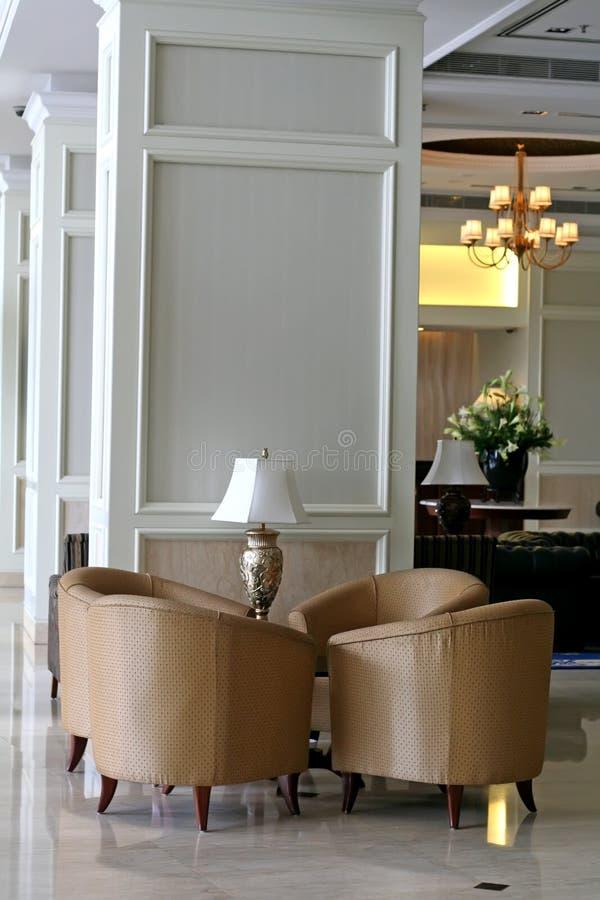空间沙发等待 免版税库存图片