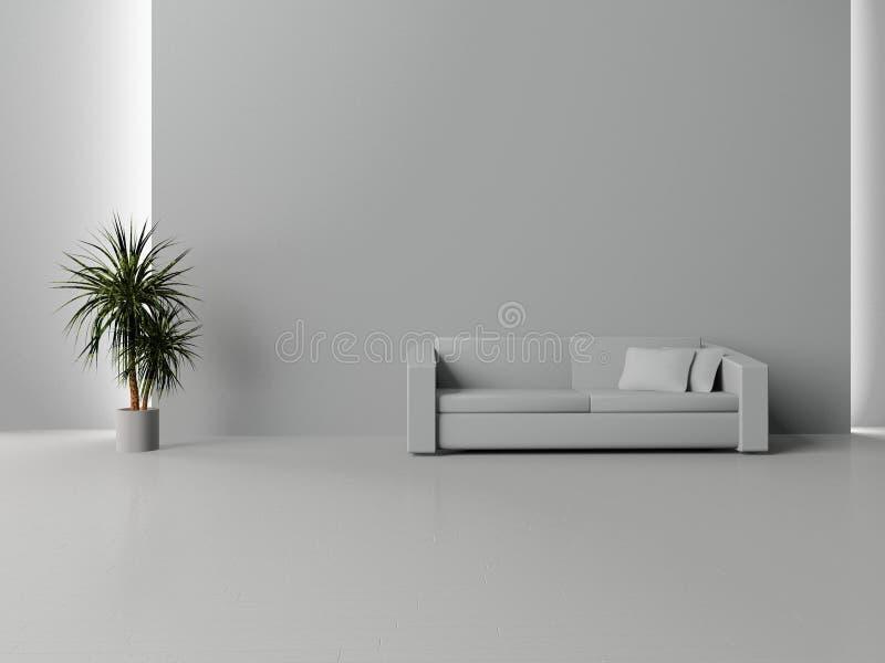 空间沙发 皇族释放例证