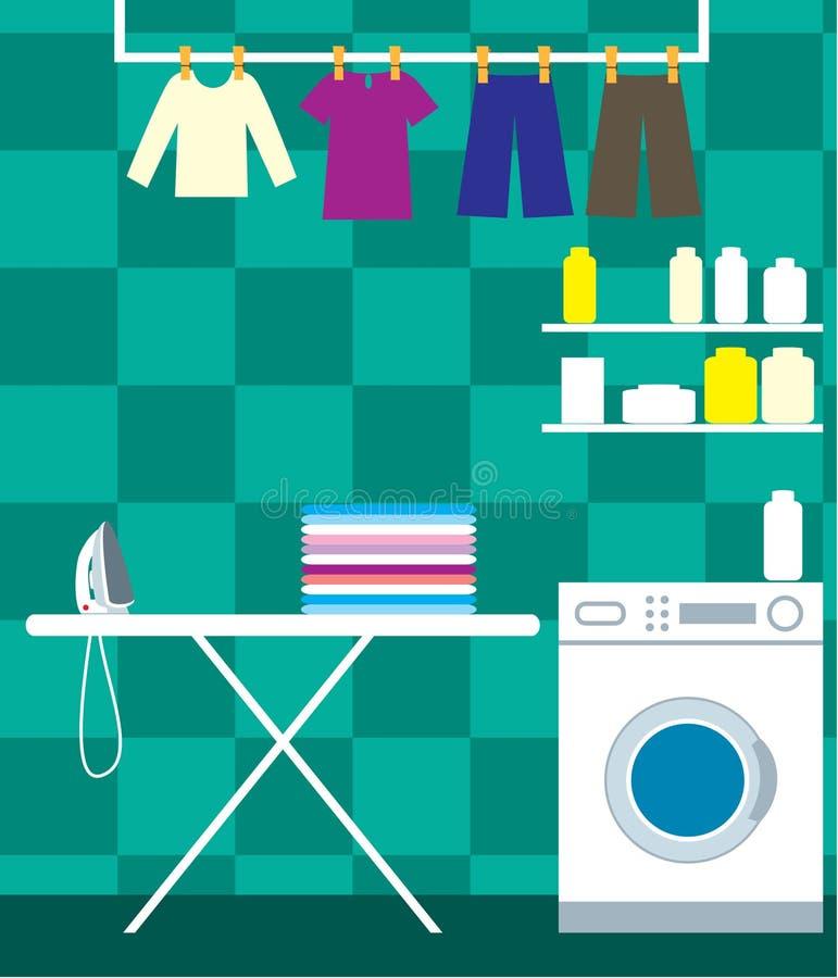 空间洗涤物 库存例证