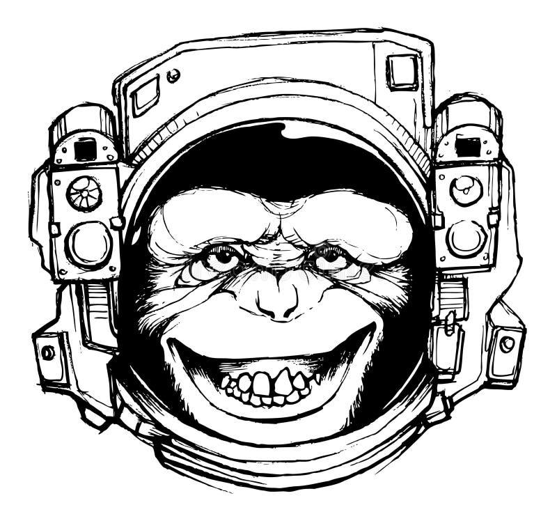 """空间猴子T恤杉/海报设计文件†""""股票例证†""""股票例证文件 皇族释放例证"""