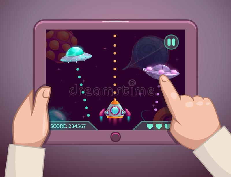 空间电子游戏概念 库存例证