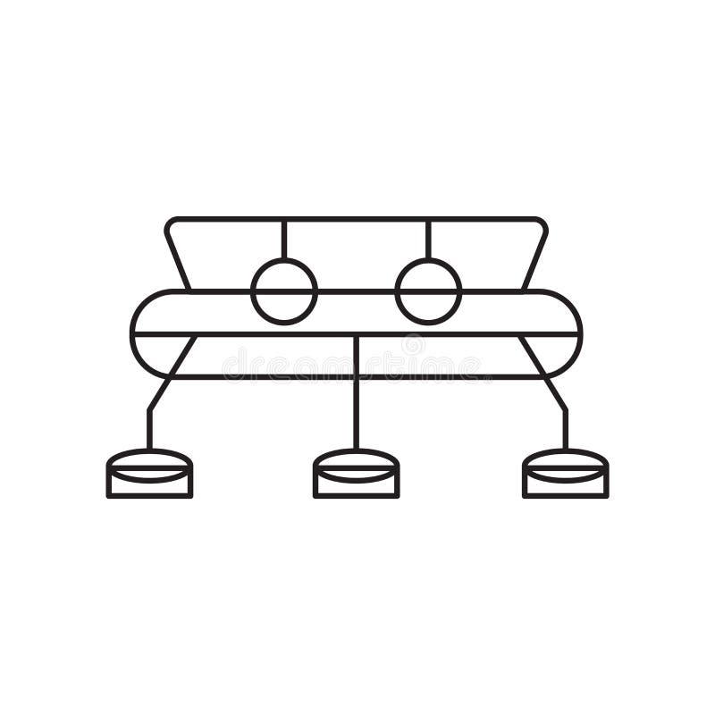空间站在白色背景隔绝的象传染媒介,空间站标志 皇族释放例证
