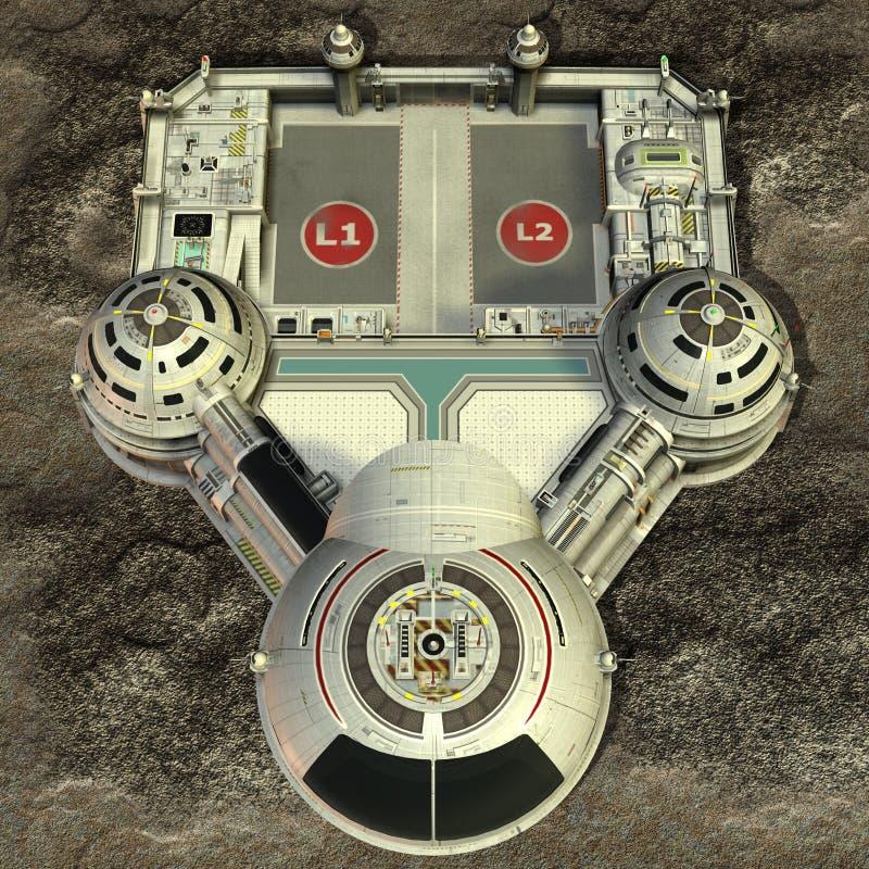空间站 向量例证