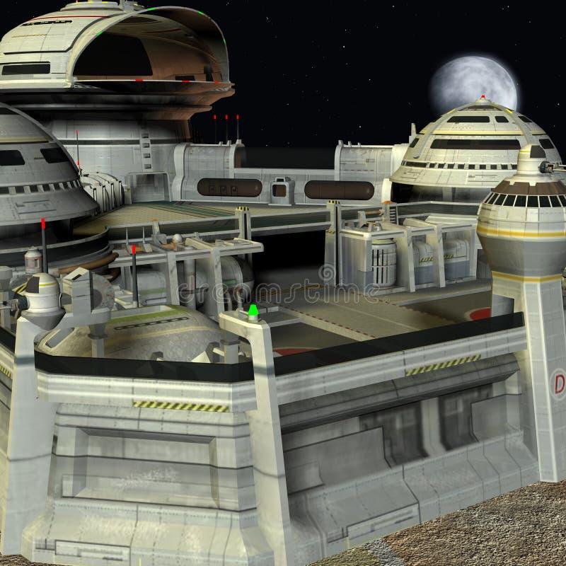 空间站 皇族释放例证