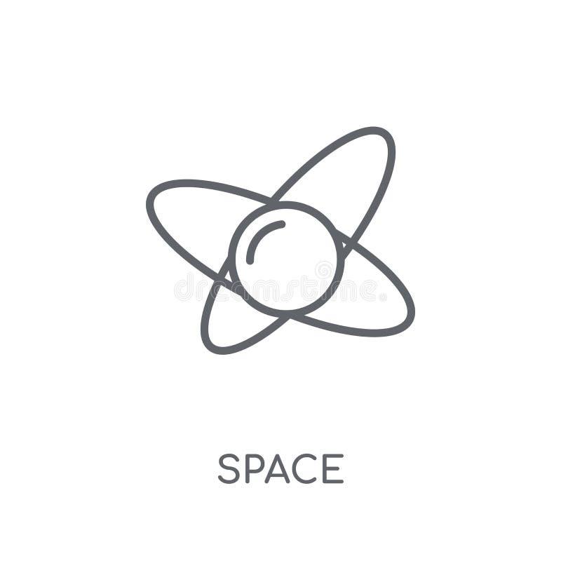空间线性象 在白色ba的现代概述空间商标概念 向量例证