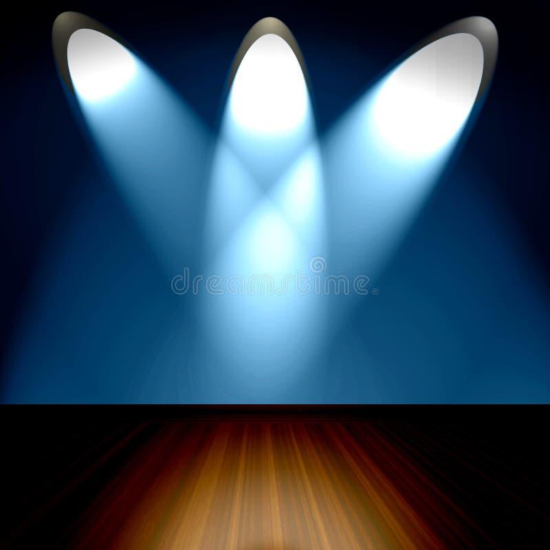 空间聚光灯 皇族释放例证