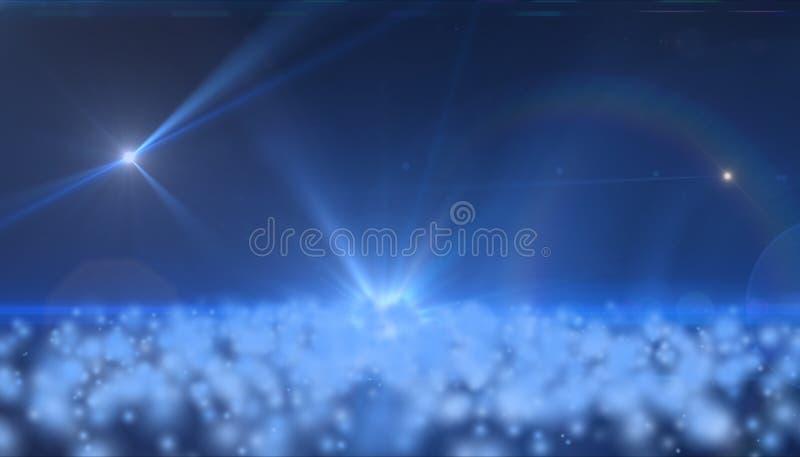 空间背景与星和云彩的 免版税库存照片