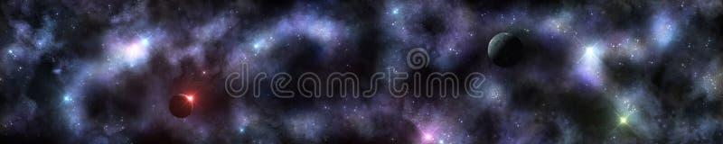 空间,宇宙的全景 免版税库存照片