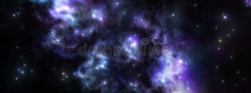 空间,宇宙的全景 免版税库存图片