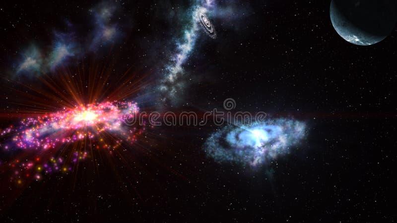 空间,宇宙的全景 库存图片