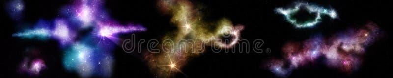 空间,宇宙的全景 库存照片