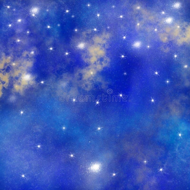 空间,星系背景,水彩空间纹理,星云背景,繁星之夜背景 库存例证