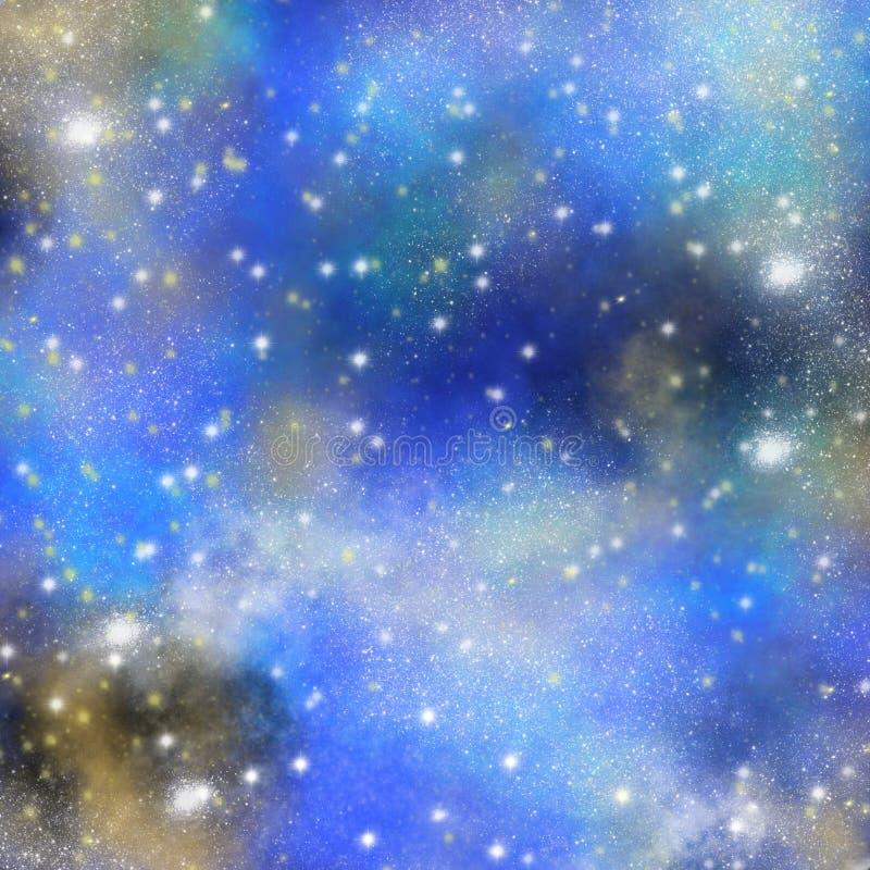 空间,星系背景,水彩空间纹理,星云背景,繁星之夜背景 向量例证