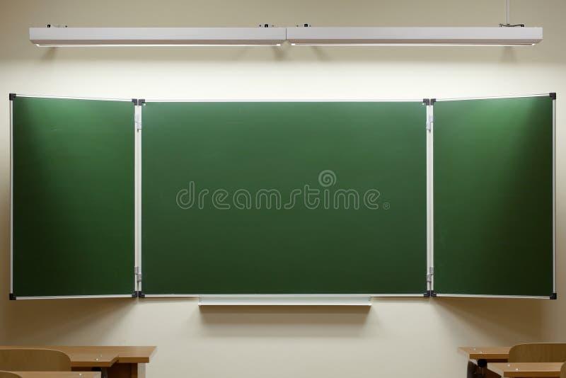 空黑板的教室 免版税图库摄影