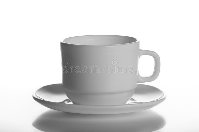 空,白色杯子,被隔绝的,白色背景,杯子杯子茶碟茶杯盘厨具白色堆堆干净的空的茶演播室射击 库存照片