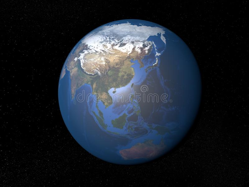 Download 从空间亚洲的地球没有云彩 库存例证. 插画 包括有 宇宙, 大陆, 天空, 星形, 没有, 地球, 视图 - 62534256