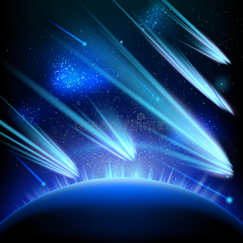 空间天空星背景 10 eps 库存例证
