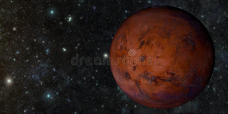 从空间射击的火星 向量例证