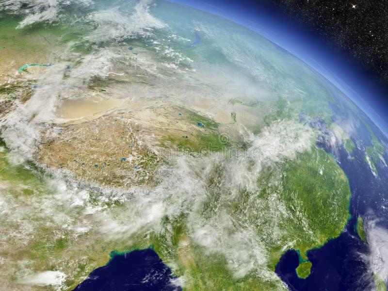 从空间的中国 向量例证