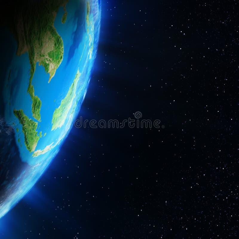 从空间的亚洲 库存例证