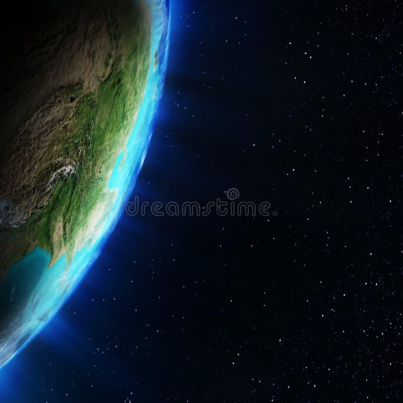 从空间的亚洲 皇族释放例证