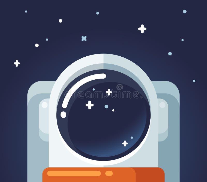 空间的宇航员 库存例证