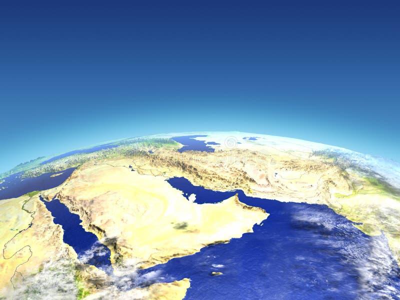 从空间的阿拉伯半岛 库存例证