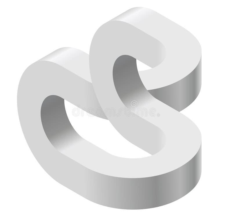 空间矛盾, Esher ` s无限楼梯原则 等量被成拱形的形状 皇族释放例证