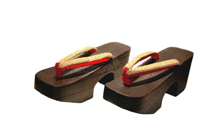 穿上鞋子木 免版税图库摄影