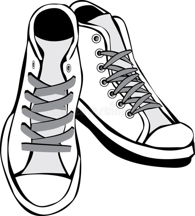 穿上鞋子网球 皇族释放例证