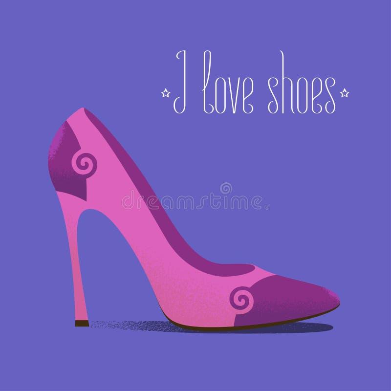 穿上鞋子象时尚相关的传染媒介例证,设计元素 向量例证