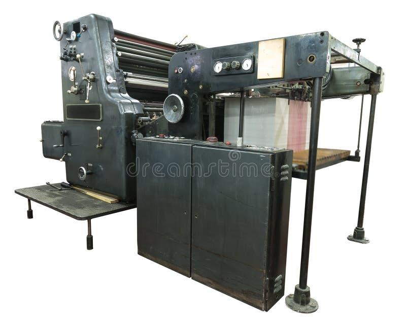 穿孔机器和印刷品卡片 免版税库存照片