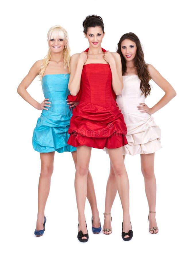 穿戴女孩组 免版税库存图片