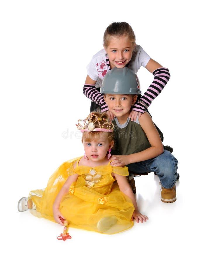 穿戴的儿童服装 免版税库存照片
