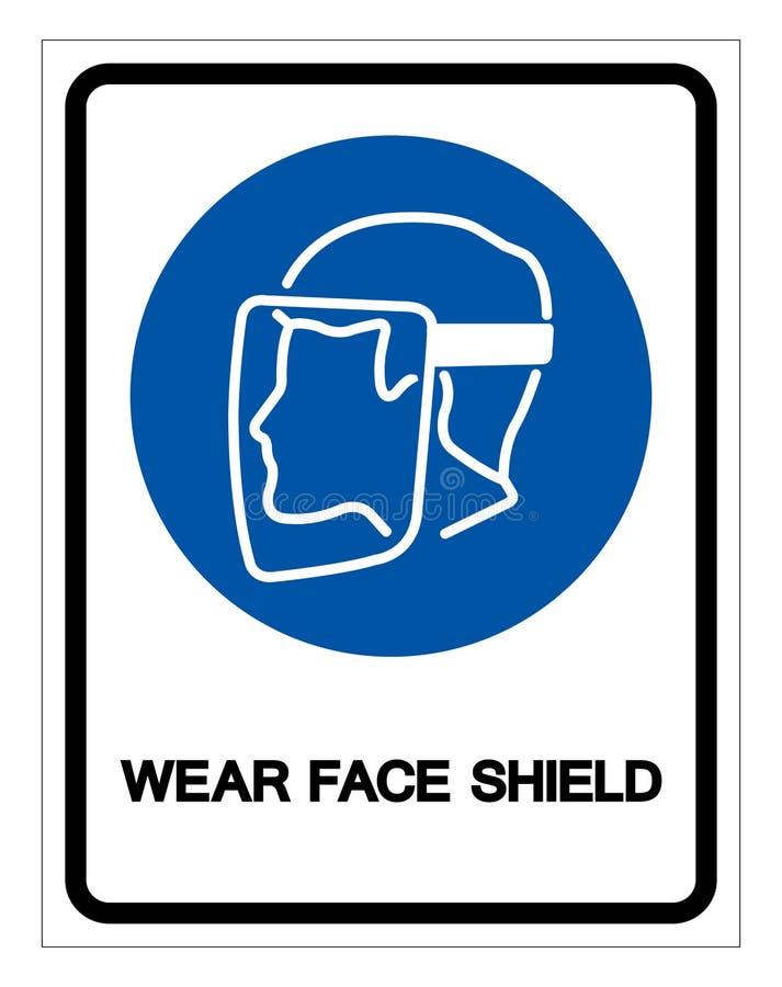 穿戴面罩标志标志,传染媒介例证,在白色背景标签的孤立 EPS10 向量例证