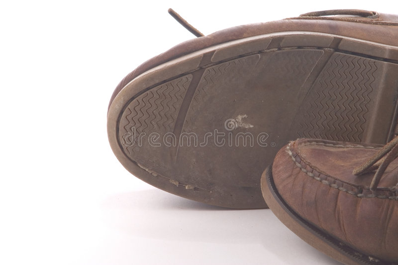 穿的鞋子 免版税库存图片