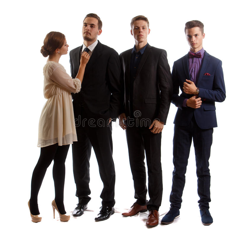 穿着体面的青年人 库存图片