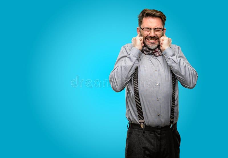 穿着衣服的中年人 免版税库存图片